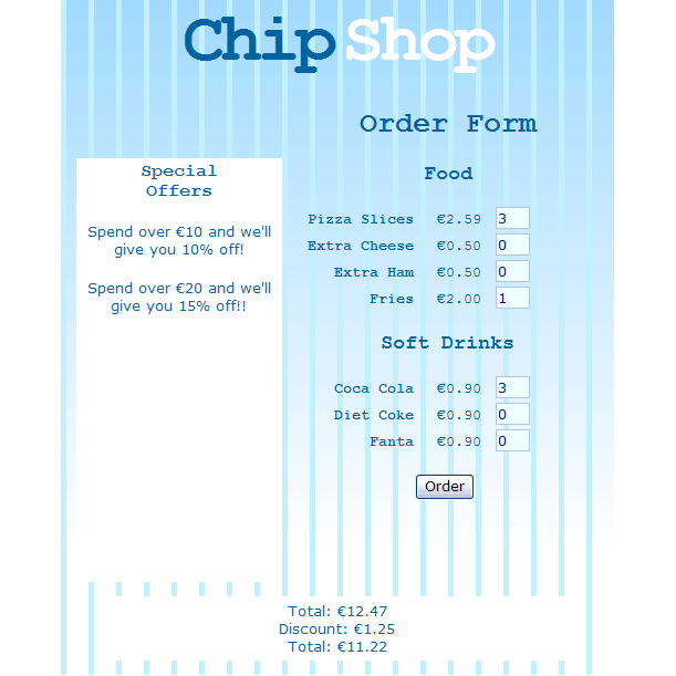 chip shop order form
