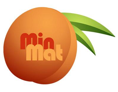 minmat logo, an apricot