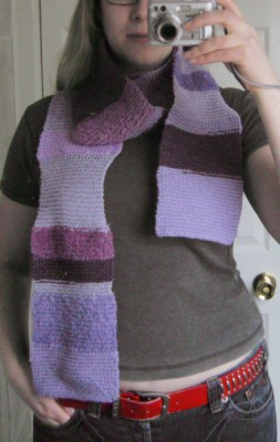 me, test driving the scarf
