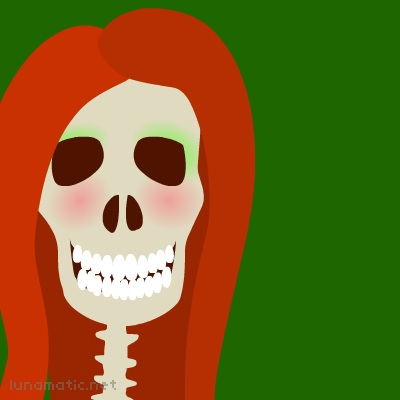 Ciara's red hair is set off with her rich green eye-shadow, which so flatters her eye sockets