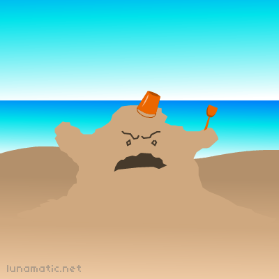 The king of the beach has hijacked your bucket and spade.