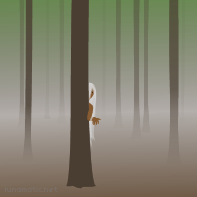 She hides behind a tree, shyly, her long hair veiling her face. She beckons you over, and you notice her fingers. Something is very wrong here…