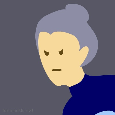 Granny Snip has her worst disapproval face on