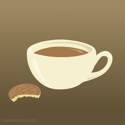Earl Grey, if I can get it, but any old tea will do. Prefer biscuits with chocolate, or a hint of ginger.