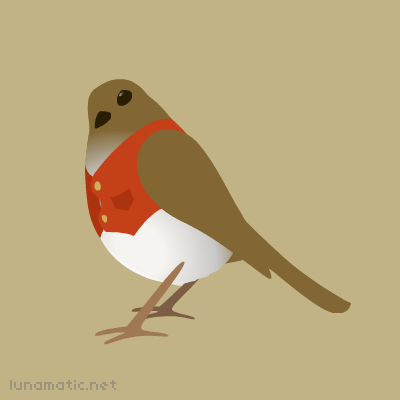 The robin is a bird so territorial, he'll build a nest in your garden, and then charge you rent.