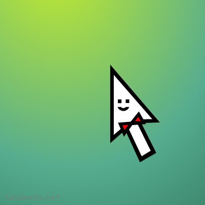 Spiffy cursor wears a red bowtie