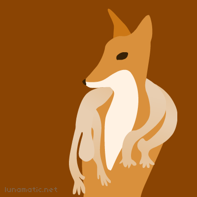 A fox draped in a luxurious skin, perhaps yours