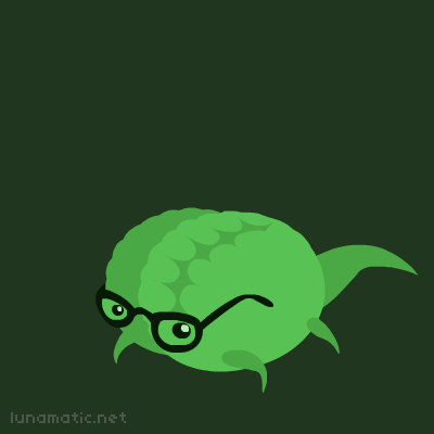 Lizard brain wears thick glasses so people will think he's smarter than he is