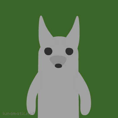 Wolf has a long schnozzle and pointy ears