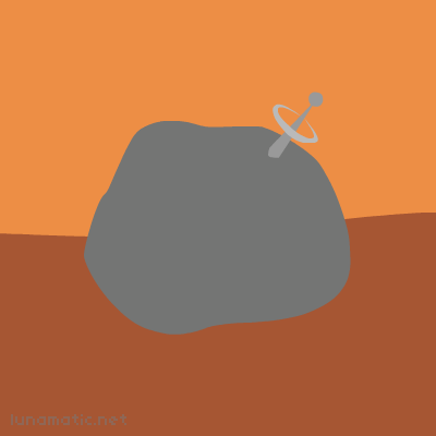 Robot rock has an antenna