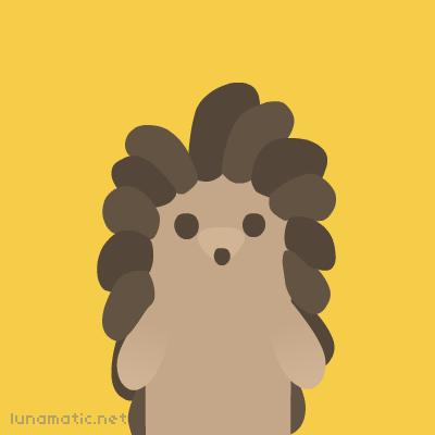 Hedgehog has a little snout and lots of interesting hair