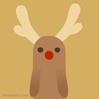 The reindeer with the big red hooter