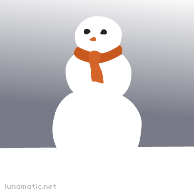 A snow woman who is very proud of her curves