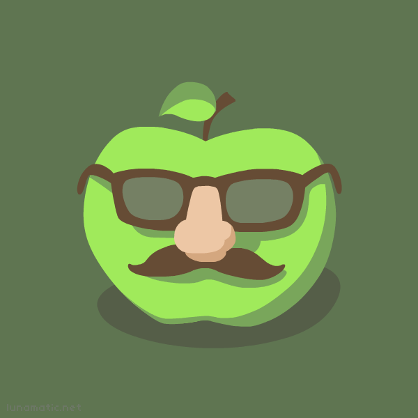 Der Apfel, an apple pretending to be a man
