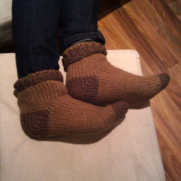 Knitted foot oven socks