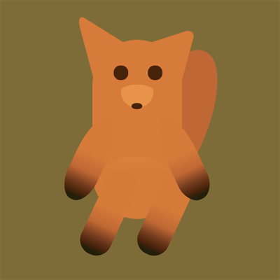 A fox made of CSS shapes